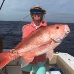 American Red Snapper.   Caught offshore in 378' of water aboard Fly By (Link's boat) with Captain Zane Albury... released.. Caught by Deb Link