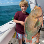 2020 - Riley Johnson with a beautiful Parrot fish, released