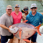 2020 - Vanessa and Carl Lindner, with Capt Richard Peeples and Capt Jeff Amorello,  with 78 pound Opah!
