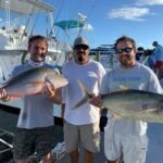 2020 - Austin & Chandler Pace with a nice mutton snapper and yellow jack - fishing aboard Mr. Nice with Captain Frank.