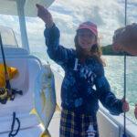 2021 - Ella Paleologos caught this nice yellow jack in Caesar Creek with Captain Bill McKee.