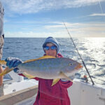 2021 - Laura Hendrick with a very nice Yellowtail Snapper