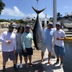 "2021 - ORC Rod & Gun Club member Rob Gothier and Crew caught a 165lb Yellowfin Tuna on his boat ""Bar South""."